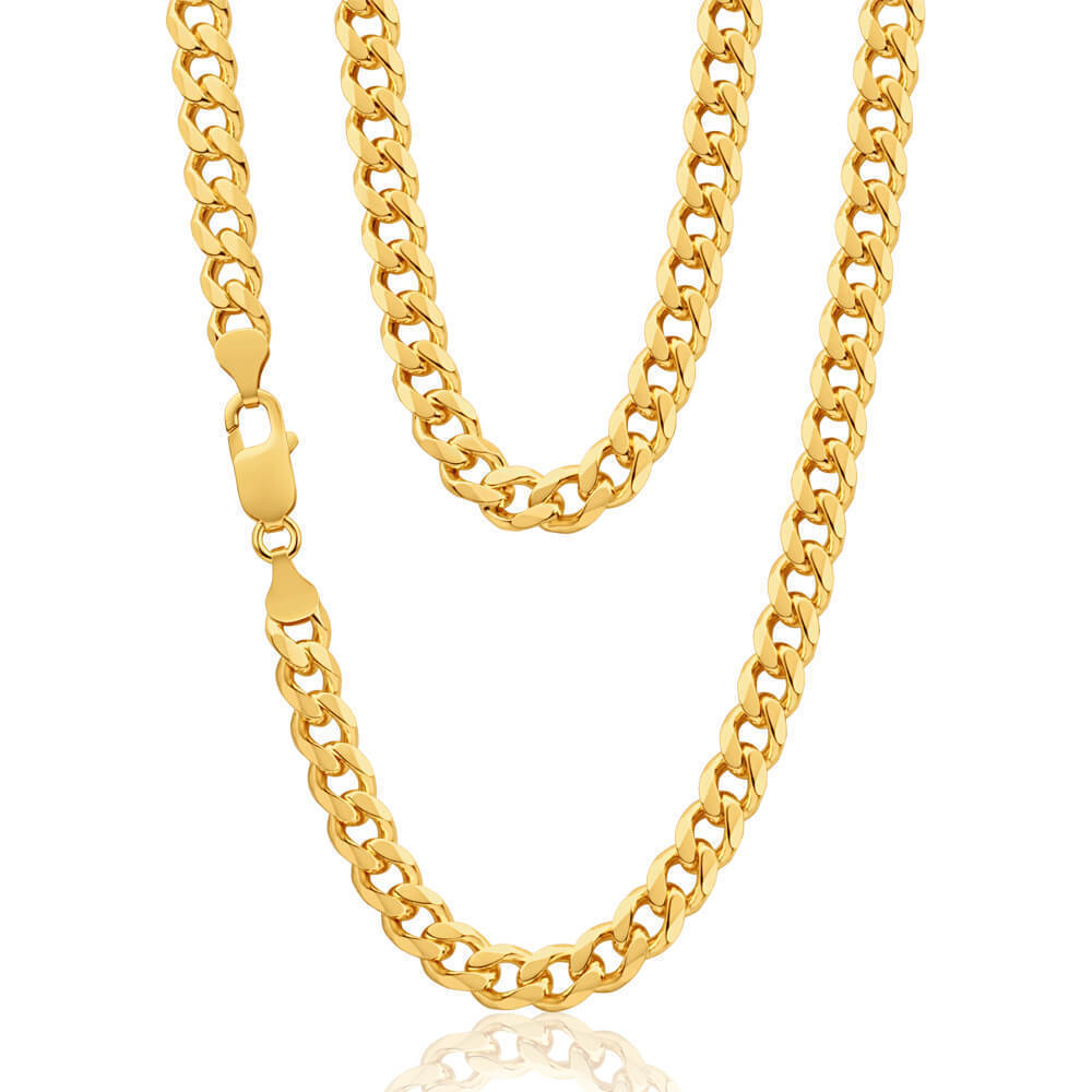 9ct Gold Diamond Cut Curb Chain 22 Inch 45 Grams