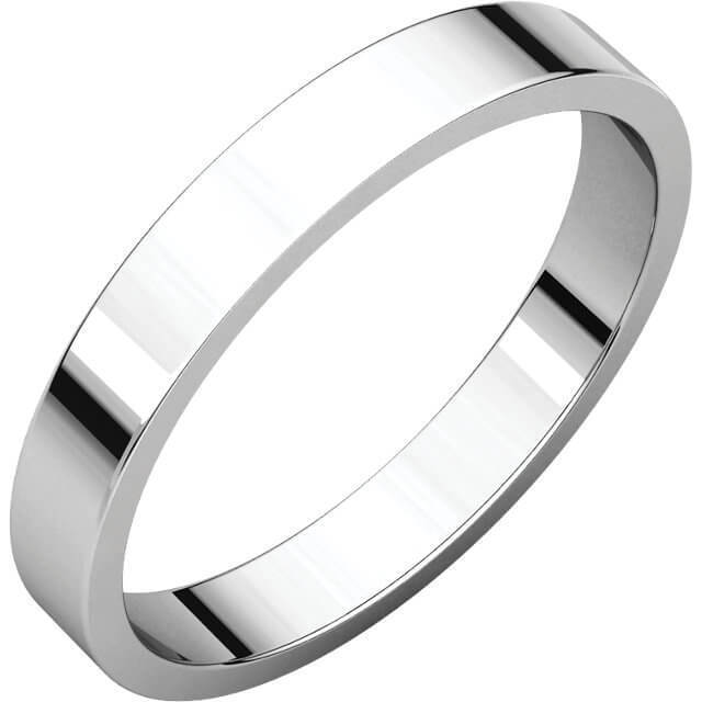 60bd3a1d0 Womens 9ct white Gold 3mm flat Wedding Ring for sale - NEWBURYSONLINE