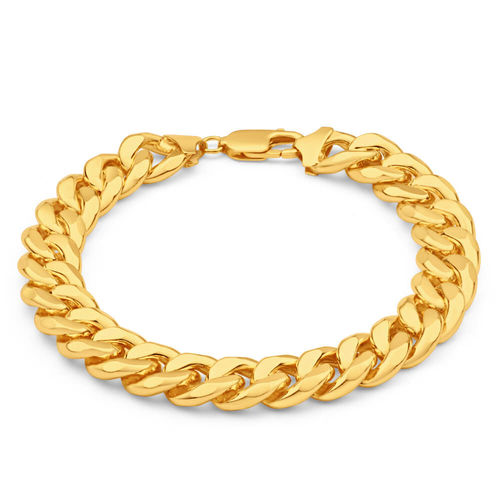 Mens 8 1/2 inch heavy 9ct Gold Curb Bracelet