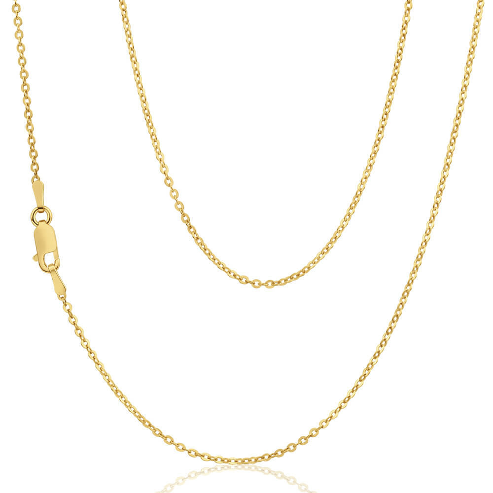 16 Inch 9ct Yellow Gold Trace Chain Necklace 0337