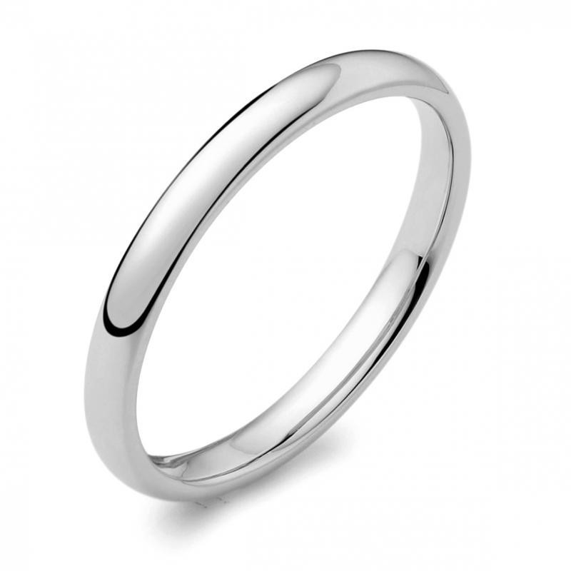 Womens Platinum 2mm D shape Wedding Ring 0007512 - NEWBURYSONLINE a47721cf6530