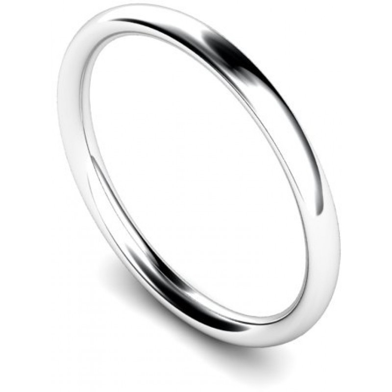 womens heavy platinum 2mm court wedding ring 00075636
