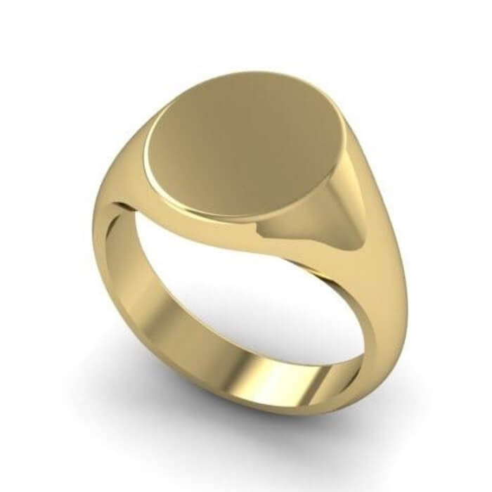 45dad92dd8901 Mens solid 9ct Gold oval Signet Ring 11mm x 9mm 6 grams
