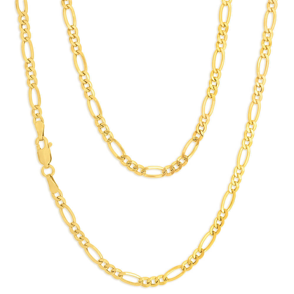 22 Inch 9ct Yellow Gold Figaro Chain Necklace 412622