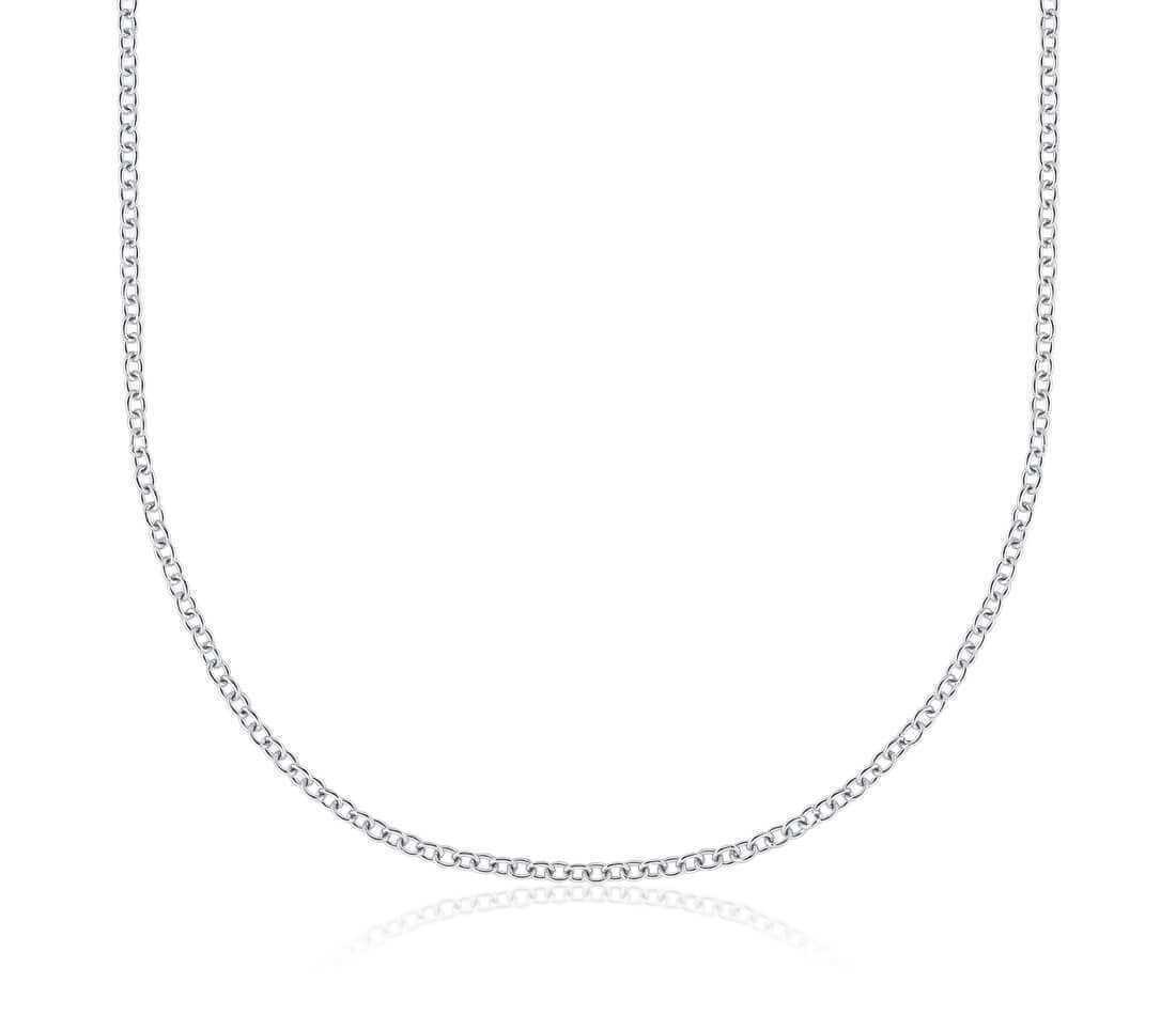18ct White Gold Cable Chain Necklace 20 Inch 412560