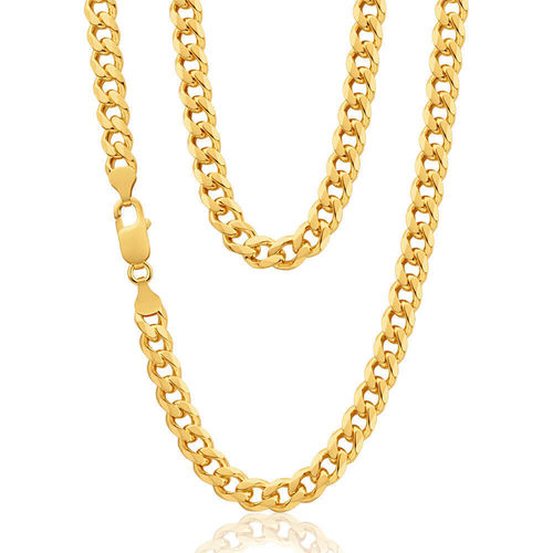 Mens solid 9ct Gold Curb Chain 22 inch 44 grams