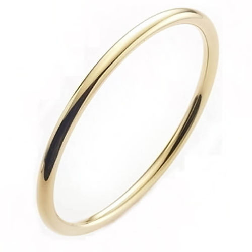 Solid 9ct yellow Gold 3mm round Bangle 17 grams