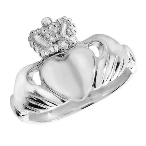 Womens Sterling Silver Claddagh Ring 6 grams