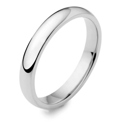 Women's Platinum 3mm D shape Wedding Ring