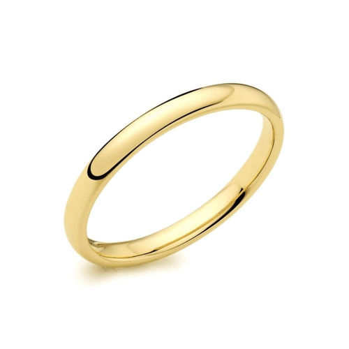 Womens 18ct Yellow Gold 3mm D shape Wedding Ring 3 grams