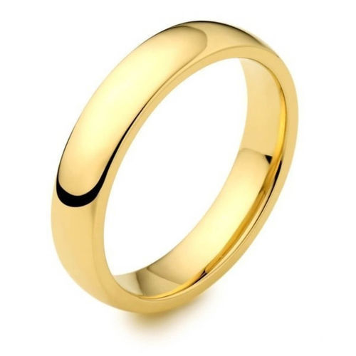 Womens 18ct Yellow Gold 4mm D shape Wedding Ring 4 grams