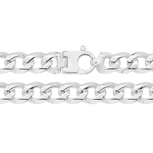 Mens heavy Sterling Silver Curb Bracelet 8 inch 75 grams