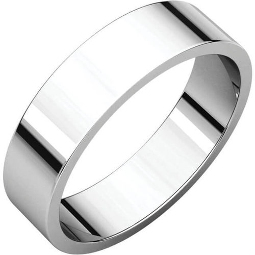 Womens Platinum 5mm flat shape Wedding Ring