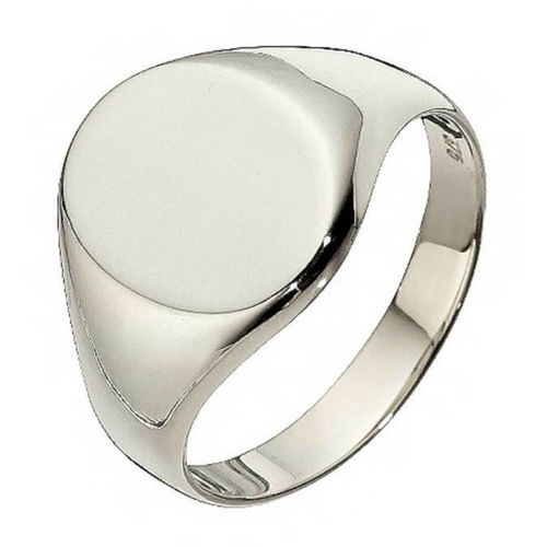 Womens oval Sterling Silver Signet Ring