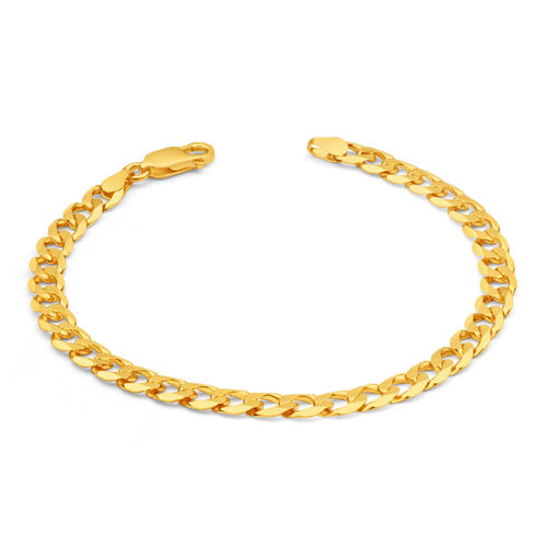 Mens solid 9ct Gold Curb Bracelet 22 grams