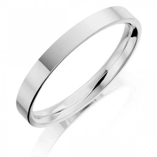 Solid 9ct white Gold 6mm flat shape Bangle 24 grams