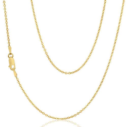 Women's 16 inch 9ct Yellow Gold Trace Chain Necklace