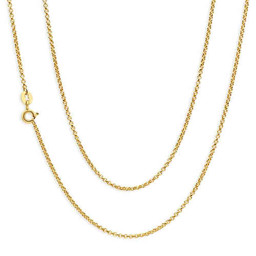 Women's 16 inch 9ct Yellow Gold Belcher Chain Necklace