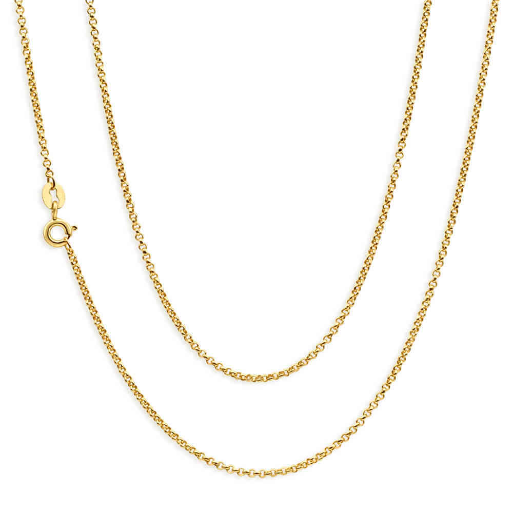 Ladies 16 inch 9ct yellow Gold Belcher Chain Necklace