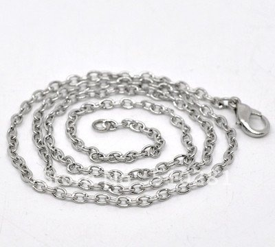 20 inch Ladies Sterling Silver navette trace Necklace
