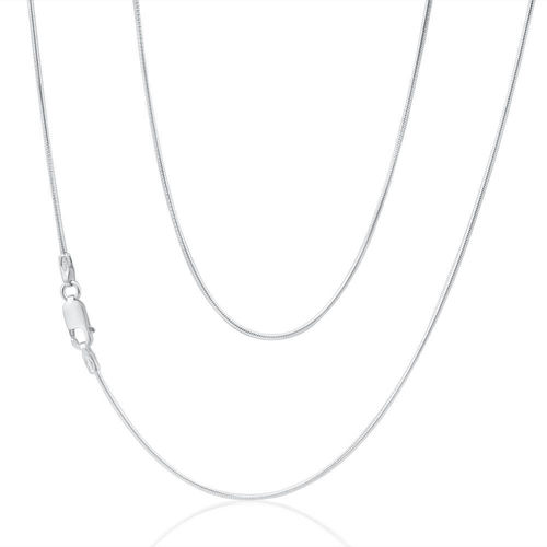 Women's 16 inch 9ct white Gold Snake Chain Necklace 2 grams