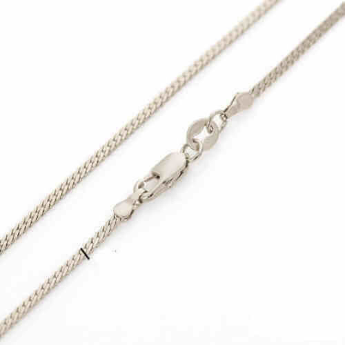 Women's 18 inch 9ct White Gold Franco Chain Necklace