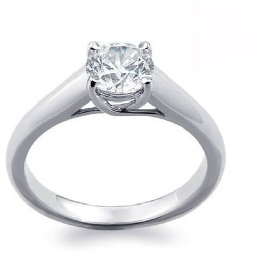 Platinum 0.30ct round Solitaire Diamond Engagement Ring