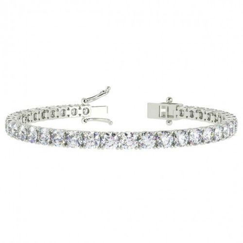 9ct white Gold 3 Carat round Diamond Tennis Bracelet
