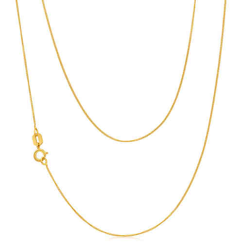 "16"" 18ct yellow Gold Diamond cut Curb Necklace 2 grams"