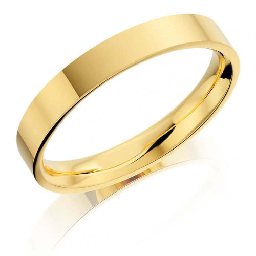 Solid 9ct yellow Gold Bangle 6mm flat shape 24 grams