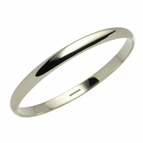 Solid Platinum 6mm D shape Bangle 43 grams