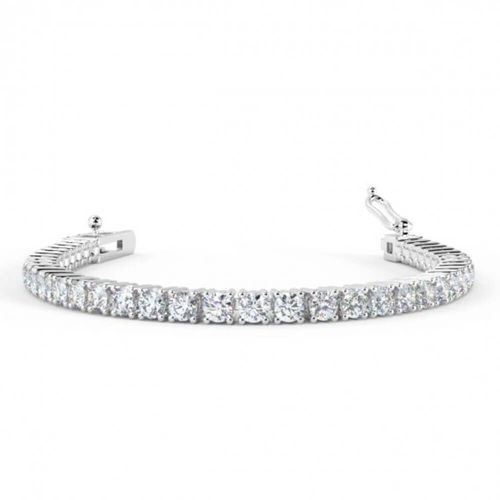 18ct white Gold 6 Carat round Diamond Tennis Bracelet