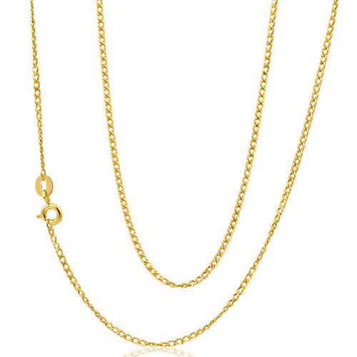 28 inch 18ct Gold Diamond cut Curb Chain Necklace 12 grams