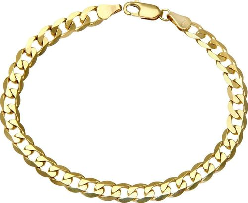 Mens 8 inch 9ct yellow Gold Curb Bracelet 19 grams