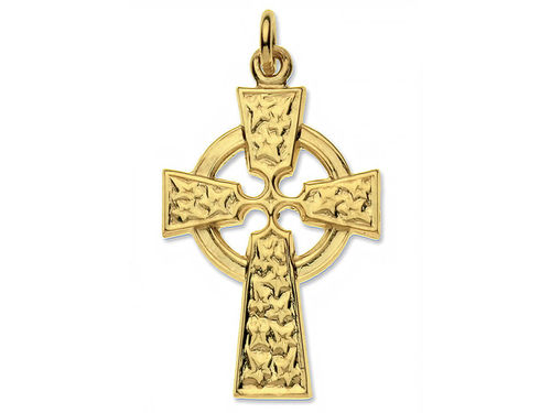 9ct yellow Gold 26mm Celtic Cross Pendant