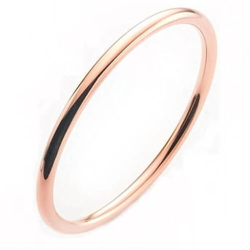 Solid 18ct rose Gold 3mm round Golf Bangle 23 grams