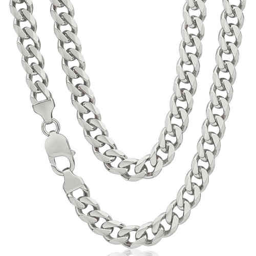 Mens heavy Sterling Silver Curb Chain 24""