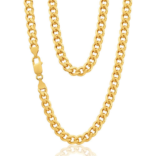 Mens 9ct yellow Gold Curb Chain 22 inch 57 grams