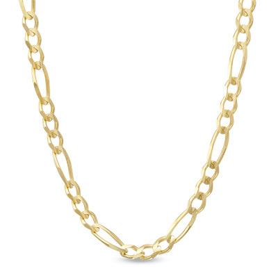 9ct yellow Gold Figaro Chain Necklace 18 inch