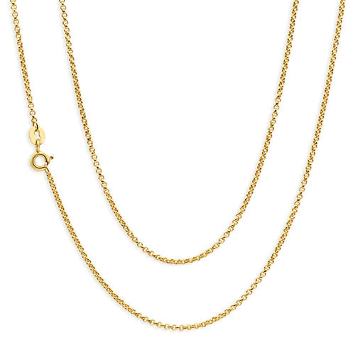 18ct Gold Belcher Diamond cut Chain Necklace 18 inch 3.6 grams