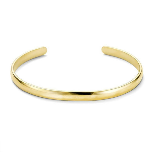 Solid 9ct Gold open 4mm D shape Bangle 13 grams
