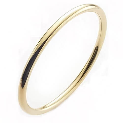 9ct Gold Bangle solid 3mm round 17 grams