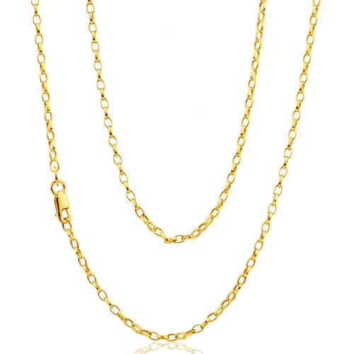 20 inch oval 9ct Gold Belcher Chain Necklace