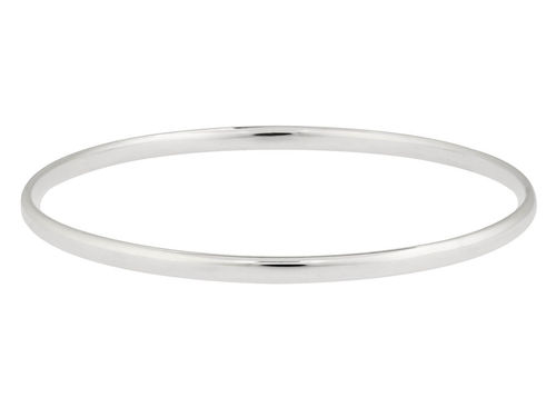 Solid Sterling Silver Bangle flat 3 1/2mm