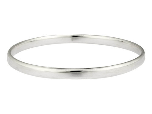Solid Sterling Silver Bangle flat 5 1/2mm