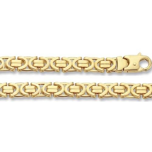 Men's 9ct Yellow Gold Byzantine Bracelet 8 inch 19 grams