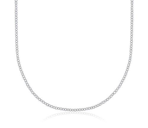 18ct gold chains necklaces for sale newburysonline 18ct white gold cable chain necklace 20 inch aloadofball Gallery