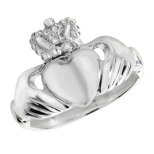Womens solid Sterling Silver Claddagh Ring 5 grams