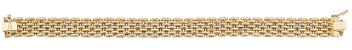 Womens 9ct Gold brick link Bracelet 20 grams