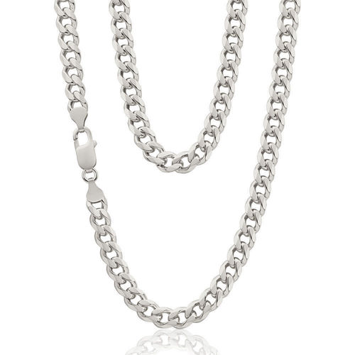 "Mens solid Sterling Silver Curb Chain 22"" 54 grams"